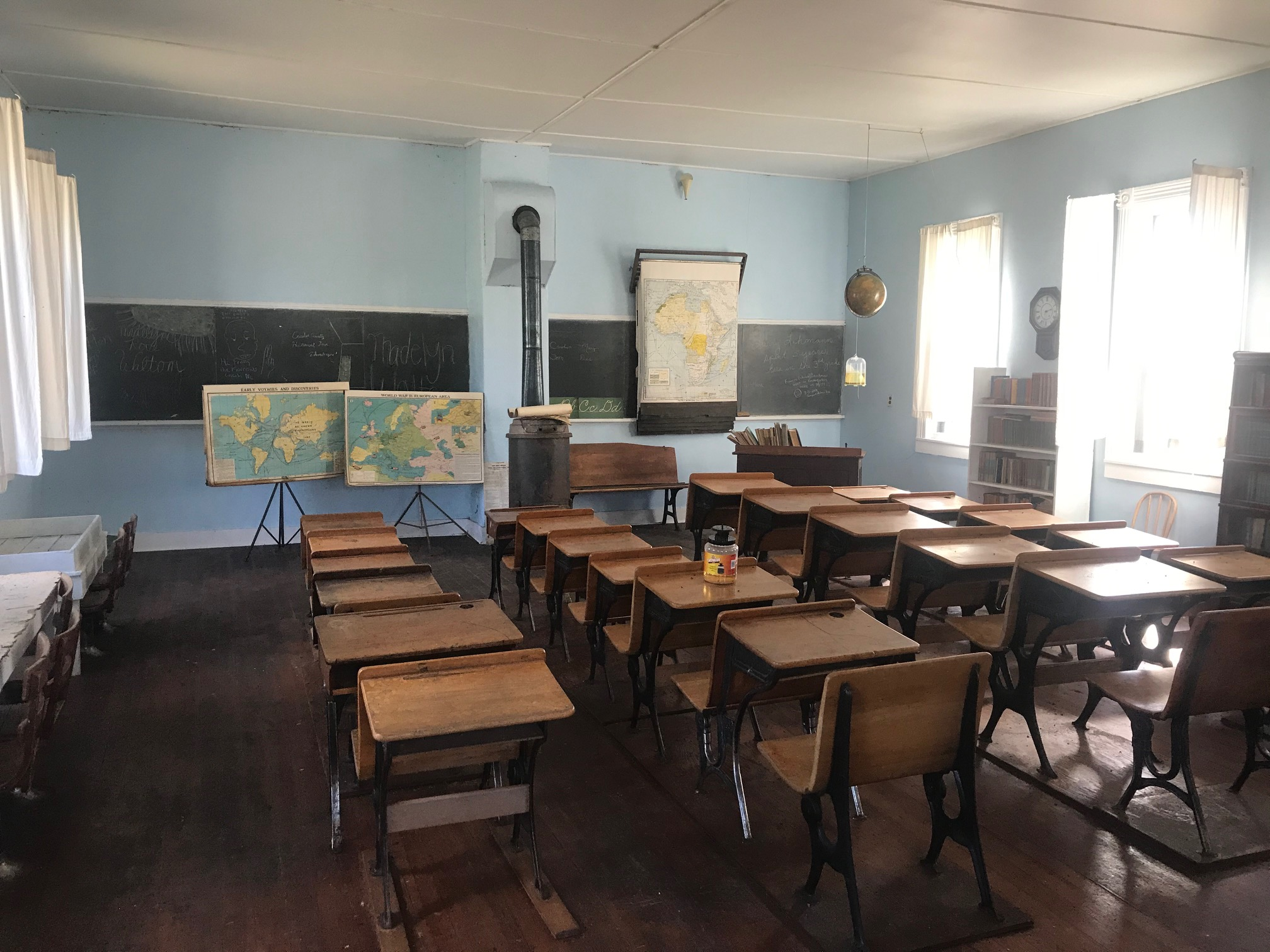 Inside the schoolhouse